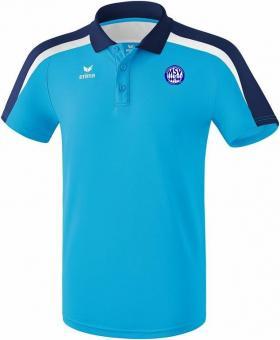 Liga 2.0 Poloshirt MSV Bajuwaren curacao/new navy/weiß | 140