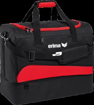Sporttasche mit Bodenfach Japanische Sportschule rot/schwarz | S