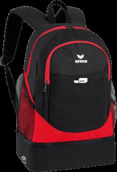 Rucksack mit Bodenfach Japanische Sportschule rot/schwarz | 1