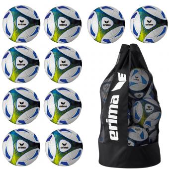 10 x ERIMA Hybrid Training + Ballsack royal/lime | 5