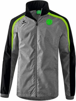 Liga 2.0 Allwetterjacke TSV Turnerbund München grau melange/schwarz/green gecko | L