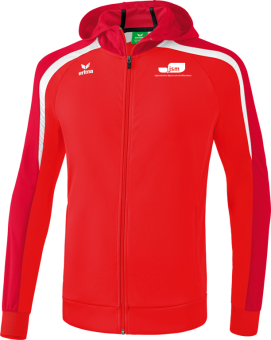 Liga 2.0 Trainingsjacke mit Kapuze Japanische Sportschule rot/dunkelrot/weiß | XXXL