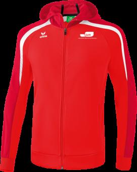 Liga 2.0 Trainingsjacke mit Kapuze Japanische Sportschule rot/dunkelrot/weiß   164
