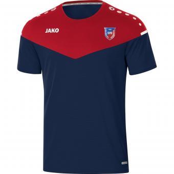 T-Shirt Champ 2.0 SV Untermenzing marine/chili rot | 38