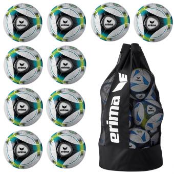 10 x ERIMA Hybrid Training +Ballsack petrol/lime/black | 5
