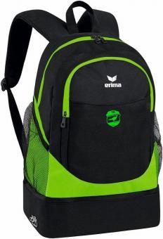Rucksack mit Bodenfach DJK Fasangarten green gecko/schwarz | 1