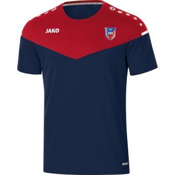 T-Shirt Champ 2.0 SV Untermenzing marine/chili rot | 4XL