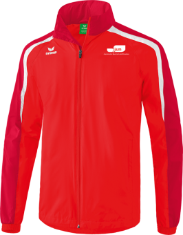 Liga 2.0 Allwetterjacke Japanische Sportschule rot/dunkelrot/weiß   128