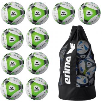 10 x ERIMA Hybrid Training + Ballsack